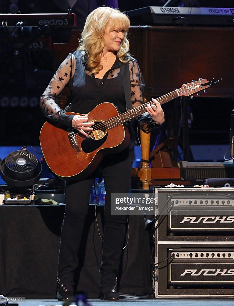 Soozie Tyrell and the E Street Band is seen performing in concert at the BB&T Center on February 16, 2016 in Miami, Florida.