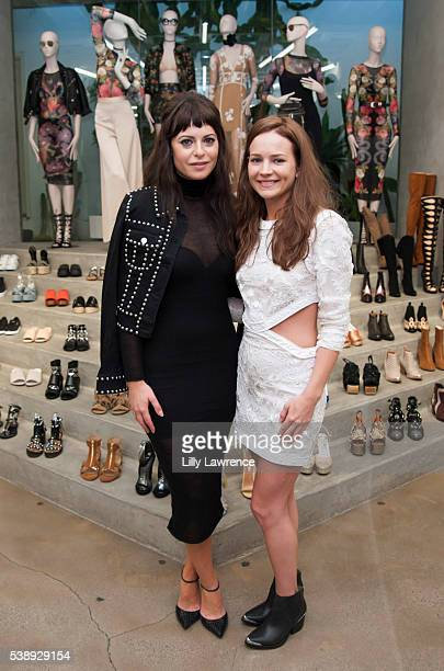 Sophia Amoruso and actress Britt Robertson attend FORBES Magazine celebration of Sophia Amoruso for 'Self Made Women' issue at Nasty Gal on June 8...