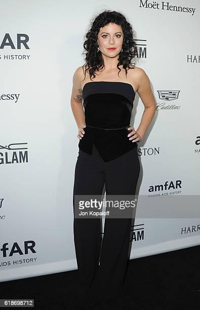 Sophia Amoruso arrives at amfAR's Inspiration Gala Los Angeles at Milk Studios on October 27 2016 in Hollywood California