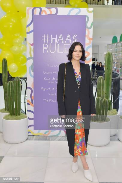 Sophia Amoruso attends Barneys New York Celebrates Haas for the Holidays Hosted by Matthew Mazzucca Nikolai Haas and Simon Haas at Barneys New York...