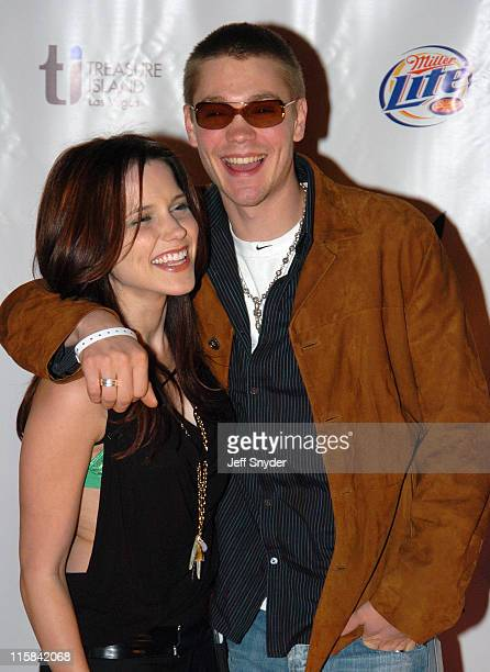 Sophia Bush and Chad Michael Murray during Playboy's 6th Annual Super Bowl Party at River City Brewing Company in Jacksonville FL United States