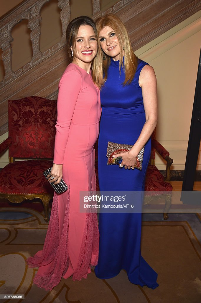 Sophia Bush, and Connie Britton attend the Bloomberg & Vanity Fair cocktail reception following the 2015 WHCA Dinner at the residence of the French Ambassador on April 30, 2016 in Washington, DC.