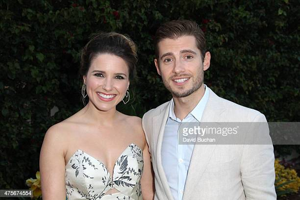 Sophia Bush and Julian Morris attend the Theirworld Astley Clarke summer reception in celebration of charitable partnership at the private residence...