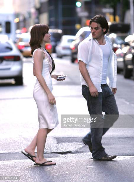 Sophia Bush and Kevin Zegers during Sophia Bush and Kevin Zegers on Set of 'The Narrows' May 24 2007 at SoHo in New York City New York United States