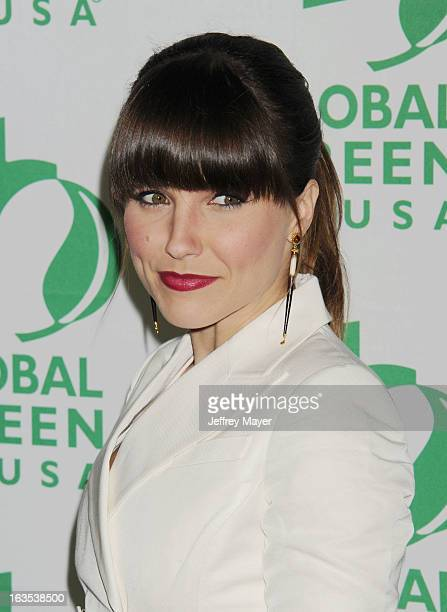 Sophia Bush arrives at Global Green USA's 10th Annual PreOscar party at Avalon on February 20 2013 in Hollywood California