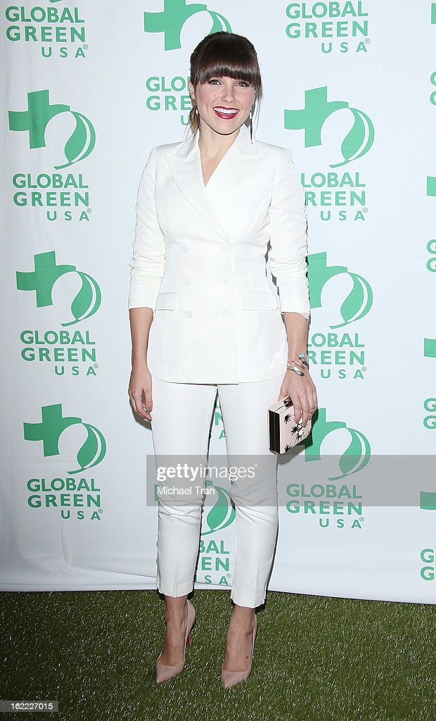 <a gi-track='captionPersonalityLinkClicked' href=/galleries/search?phrase=Sophia+Bush&family=editorial&specificpeople=203180 ng-click='$event.stopPropagation()'>Sophia Bush</a> arrives at the Global Green USA's 10th Annual pre-Oscar party held at Avalon on February 20, 2013 in Hollywood, California.