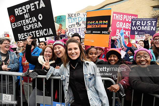 Sophia Bush attends the rally at the Women's March on Washington on January 21 2017 in Washington DC