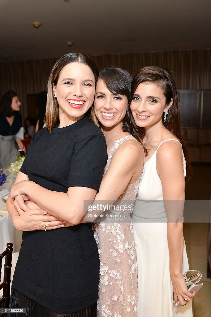 Sophia Bush Constance Zimmer and Shiri Appleby attend Glamour and Facebook Host Power Players In Hollywood Politics Lunch at Sunset Tower in West...