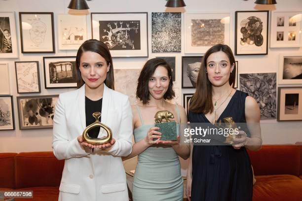 Sophia Bush Sarah Elabdi and Marina Squerciati attend Sophia Bush and EBTH Host an Intimate Brunch to Celebrate Chicago's Top Design Tastemakers at...