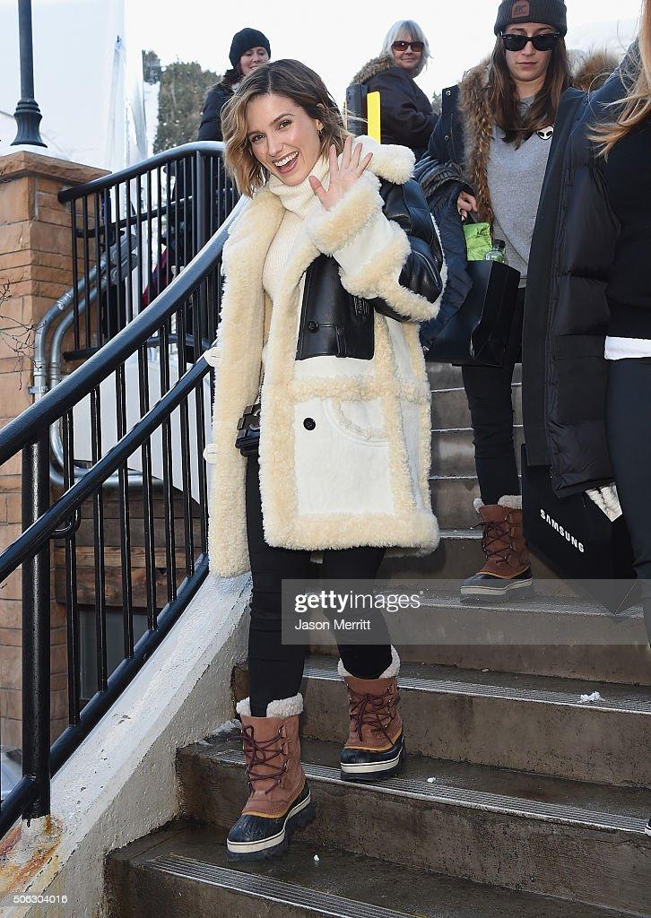 Sophia Bush wears Sorel Around Park City - Day 1 2016 Park City on January 22, 2016 in Park City, Utah.