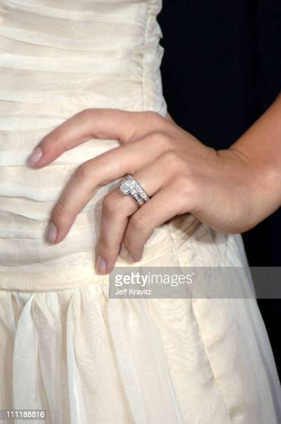 Sophia Bush's ring during 'House of Wax' Los Angeles Premiere Arrivals at Mann Village in Los Angeles California United States