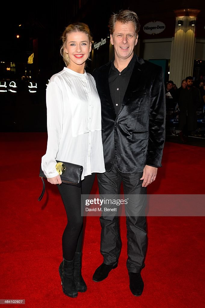 Sophia Castle and Andrew Castle attends the UK Premiere of 'Jack Ryan Shadow Recruit' at the Vue Leicester Square on January 20 2014 in London England