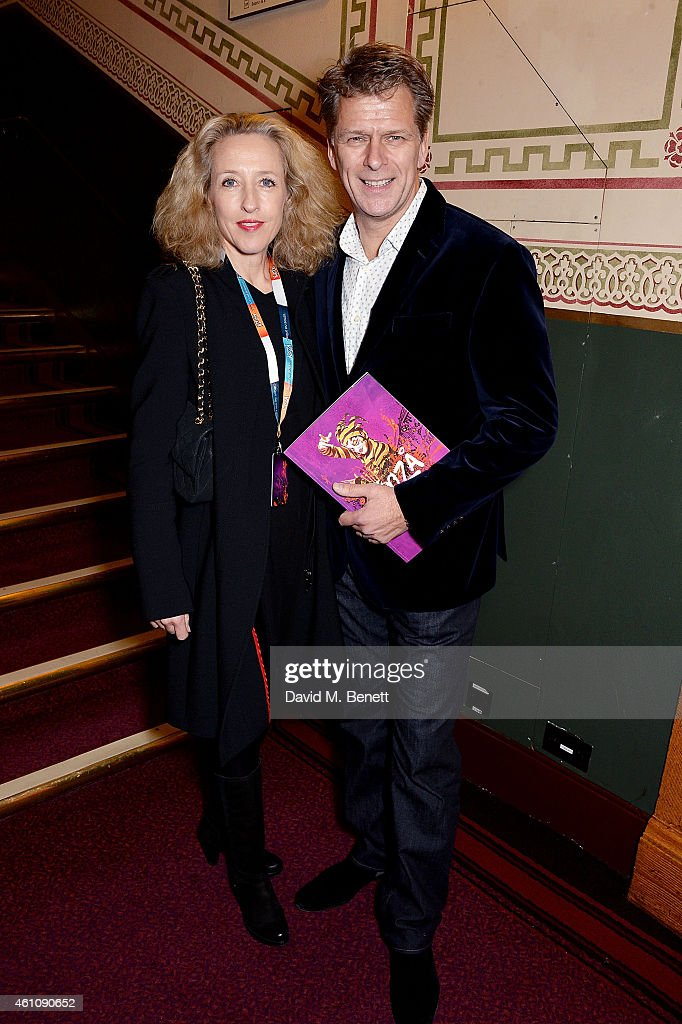 Sophia Castle and Andrew Castle attends the VIP performance of 'Kooza' by Cirque Du Soleil at Royal Albert Hall on January 6 2015 in London England