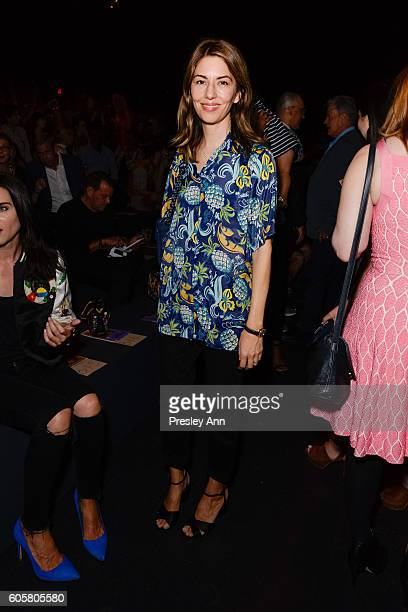 Sophia Coppola attends Anna Sui Front Row September 2016 New York Fashion Week The Shows at The Arc Skylight at Moynihan Station on September 14 2016...