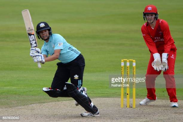 Sophia DunkleyBrown of Surrey Stars in action during the Kia Super League 2017 match between Lancashire Thunder and Surrey Stars at Old Trafford on...