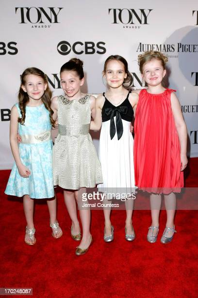Sophia Gennusa Bailey Ryon Oona Laurence and Milly Shapiro of 'Matilda the Musical' attend The 67th Annual Tony Awards at Radio City Music Hall on...