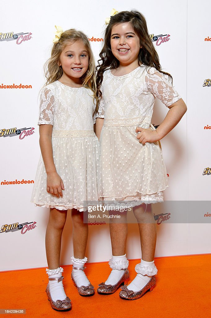 Sophia Grace and Rosie Brownlee attends the UK Premiere of Sam & Cat at Cineworld 02 Arena on October 12, 2013 in London, England.