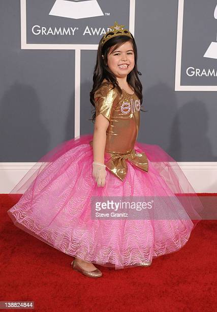 Sophia Grace arrives at The 54th Annual GRAMMY Awards at Staples Center on February 12 2012 in Los Angeles California