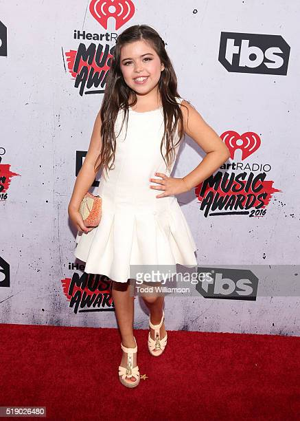 Sophia Grace attends the iHeartRadio Music Awards at the Forum on April 3 2016 in Inglewood California