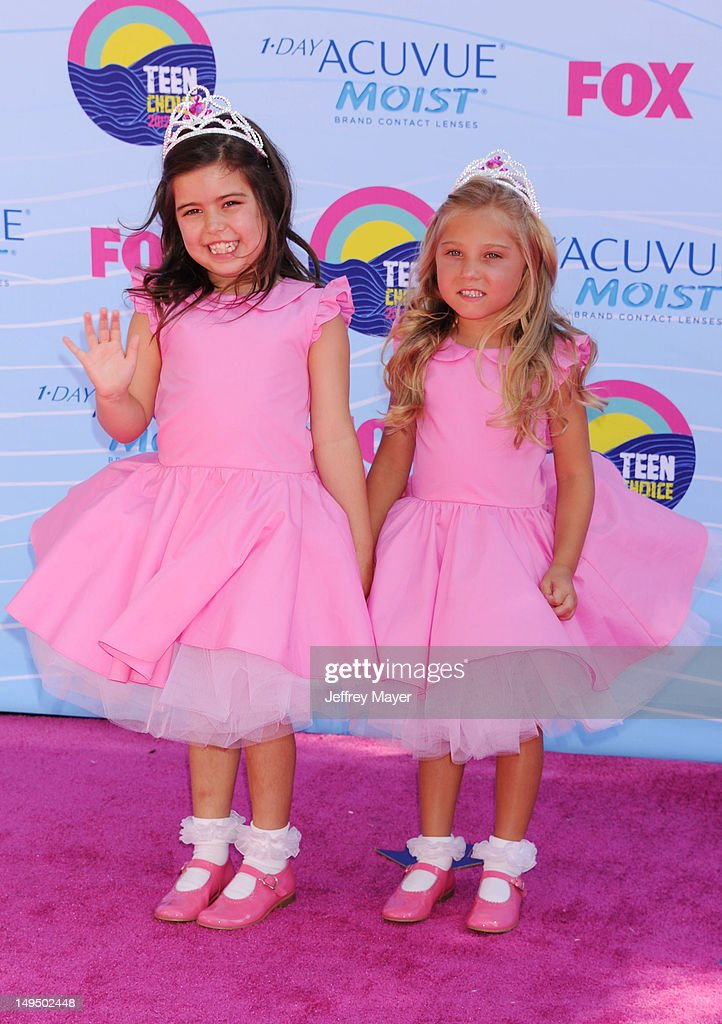Sophia Grace Brownlee and Rosie McClelland arrive at the 2012 Teen Choice Awards at Gibson Amphitheatre on July 22, 2012 in Universal City, California.