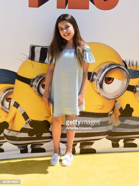 Sophia Grace Brownlee arrives at the premiere of Universal Pictures and Illumination Entertainment's 'Despicable Me 3' at The Shrine Auditorium on...