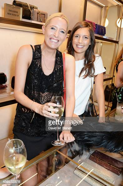 Sophia Hesketh and Amanda Sheppard attend cocktail reception hosted by Pierre Denis CEO and Sandra Choi Creative Director of Jimmy Choo to celebrate...