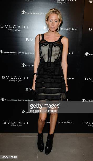 Sophia Hesketh arriving at the Vogue Bvlgari 125th Anniversary Party drinks reception in aid of Save The Children at the Saatchi Gallery Kings Road...