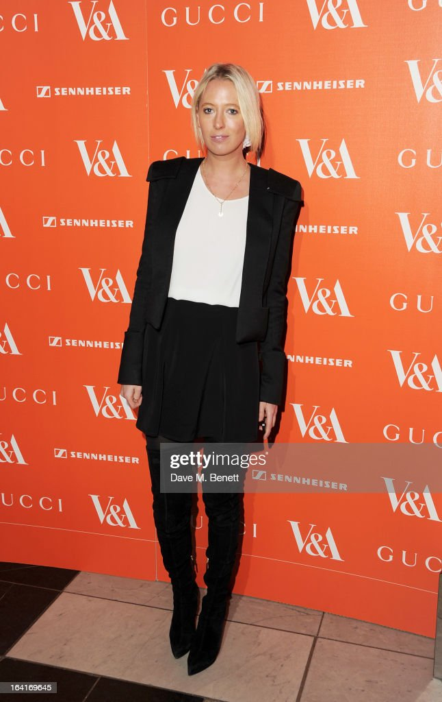 Sophia Hesketh attends the private view for the 'David Bowie Is' exhibition in partnership with Gucci and Sennheiser at the Victoria and Albert Museum on March 20, 2013 in London, England.