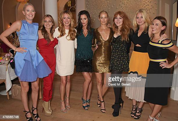 Sophia Hesketh Marianna Goulandris Cat Deeley Lily Fortescue Carolyn Murphy Charlotte Tilbury Marissa Montgomery and Juliet Angus attend a private...
