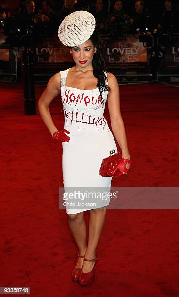 Sophia Hyatt arrives at the Charity Royal Film Performance 2009 of 'The Lovely Bones' at the Odeon Leicester Square on November 24 2009 in London...