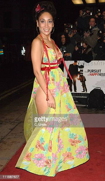 Sophia Hyatt during 'Pursuit Of Happyness' London Premiere Red Carpet at Curzon Mayfair in London Great Britain