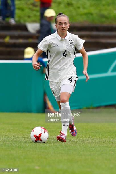 Sophia Kleinherne of Germany during the international friendly match between U19 Women's Germany and U19 Women's USA at OBI Arena on July 2 2017 in...