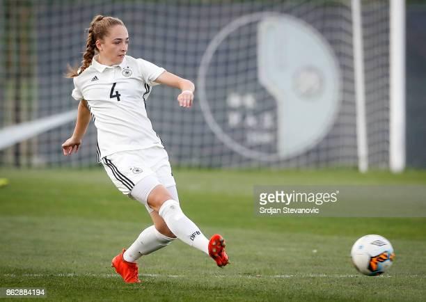 Sophia Kleinherne of Germany in action during the international friendly match between U19 Women's Serbia and U19 Women's Germany at stadium Kralj...