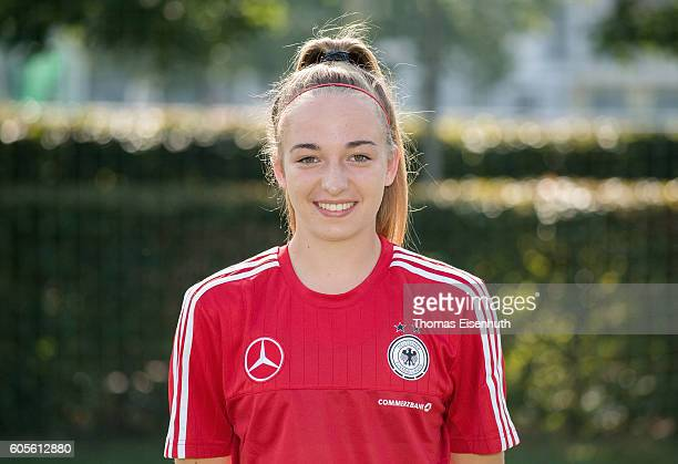 Sophia Kleinherne of the Under17 national girl's team of Germany during the official photo session on September 14 2016 in Bad Blankenburg Germany