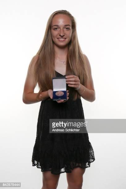 Sophia Kleinherne Winner of Bronze FritzWalterMedaille during the FritzWalterMedaille Awarding Ceremony on September 4 2017 in Stuttgart Germany