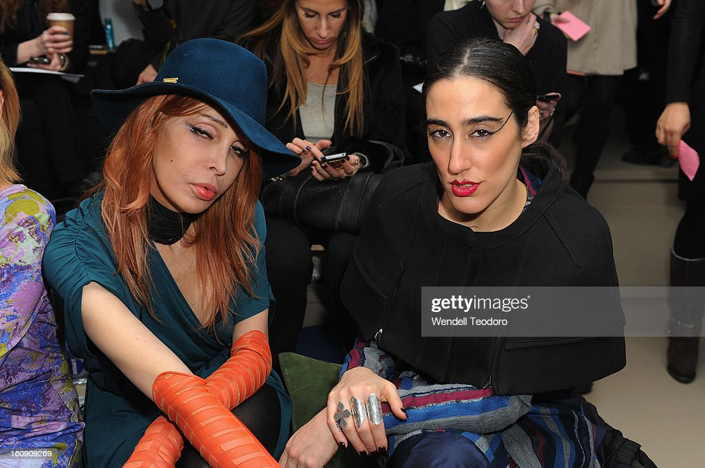 Sophia Lamar and Lady Fag attends Costello Tagliapietra duringFall 2013 MADE Fashion Week at Milk Studios on February 7, 2013 in New York City.