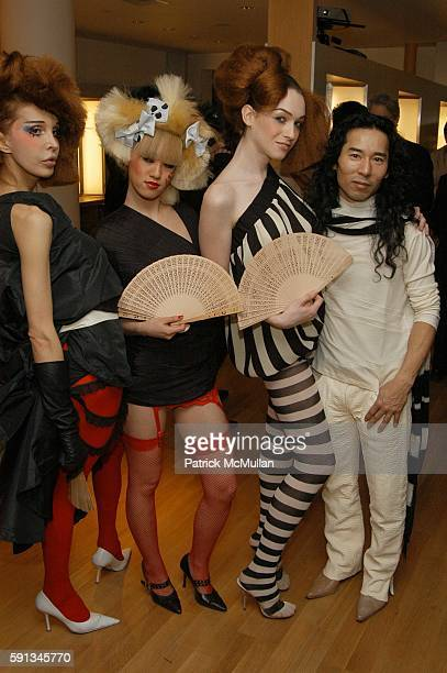 Sophia Lamar Kyoko Nagami Jamie Clayton and Eiji attend Eiji Salon grand opening reception at Eiji Salon on February 1 2005 in New York City