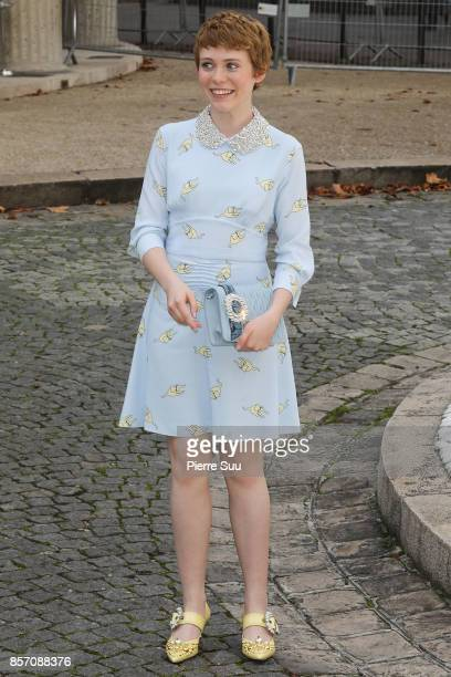 Sophia Lillis arrives at the Miu Miu show as part of the Paris Fashion Week Womenswear Spring/Summer 2018 on October 3 2017 in Paris France