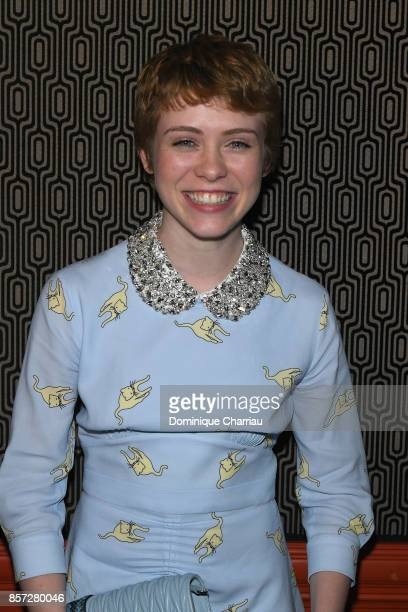 Sophia Lillis attends the Miu Miu aftershow party as part of the Paris Fashion Week Womenswear Spring/Summer 2018 at Boum Boum on October 3 2017 in...