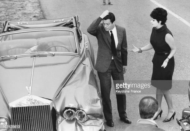 Sophia Loren And Marcello Mastroianni During Shooting Of Yesterday Today And Tomorrow Movie In Milan On October 1963