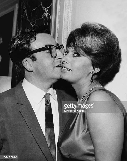 Sophia Loren And Peter Sellers In London On May 1960