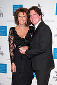 Sophia Loren and Rob Marshall attend the 2015 National Arts Awards at Cipriani 42nd Street on October 19 2015 in New York City