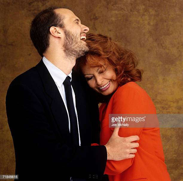 Sophia Loren and youngest son Edoardo Ponti pose for a photo on May 30 2001 in Toronto Canada Edoardo directed his mother in her 100th film Between...