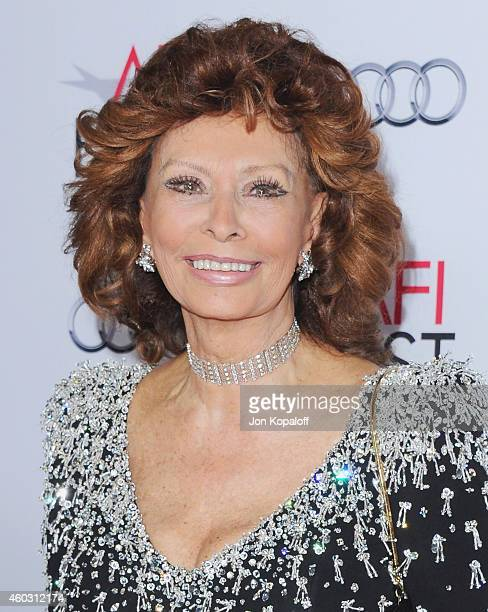 Sophia Loren arrives at the AFI FEST 2014 Presented By Audi A Special Tribute To Sophia Loren at Dolby Theatre on November 12 2014 in Hollywood...