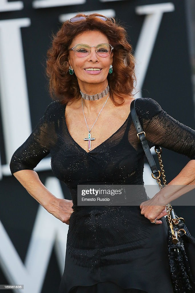 <a gi-track='captionPersonalityLinkClicked' href=/galleries/search?phrase=Sophia+Loren&family=editorial&specificpeople=94097 ng-click='$event.stopPropagation()'>Sophia Loren</a> attends 'One Night Only' hosted by Giorgio Armani at Museo Della Civilta Del Lavoro in Roma on June 5, 2013 in Rome, Italy.