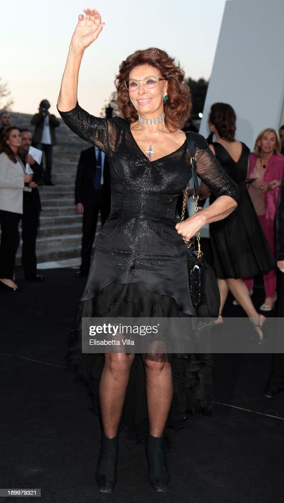 <a gi-track='captionPersonalityLinkClicked' href=/galleries/search?phrase=Sophia+Loren&family=editorial&specificpeople=94097 ng-click='$event.stopPropagation()'>Sophia Loren</a> attends 'One Night Only' Roma hosted by Giorgio Armani at Palazzo Civilta Italiana on June 5, 2013 in Rome, Italy.