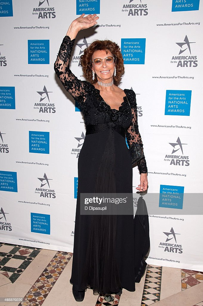 Sophia Loren attends the 2015 National Arts Awards at Cipriani 42nd Street on October 19, 2015 in New York City.