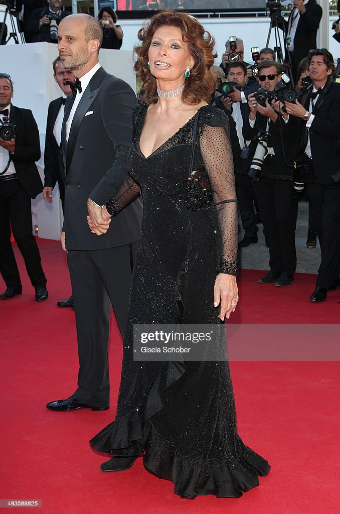 <a gi-track='captionPersonalityLinkClicked' href=/galleries/search?phrase=Sophia+Loren&family=editorial&specificpeople=94097 ng-click='$event.stopPropagation()'>Sophia Loren</a> attends the Closing Ceremony and 'A Fistful of Dollars' screening during the 67th Annual Cannes Film Festival on May 24, 2014 in Cannes, France.