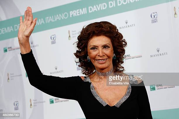 Sophia Loren attends the David Di Donatello Awards Ceremony at the Dear Studios on June 10 2014 in Rome Italy