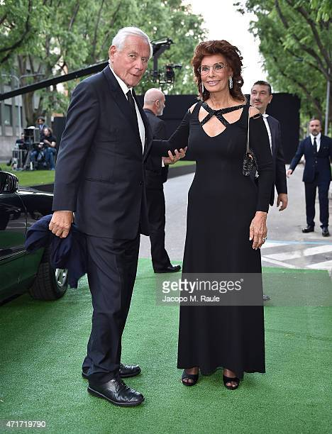 Sophia Loren attends the Giorgio Armani 40th Anniversary Silos Opening And Cocktail Reception on April 30 2015 in Milan Italy